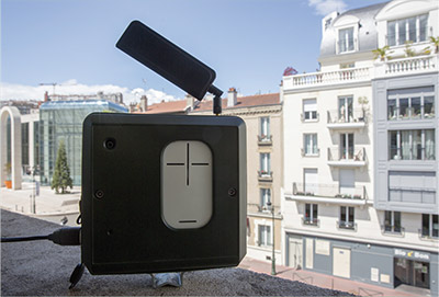 Capteur connecté de qualité d'air extérieur à Puteaux.
